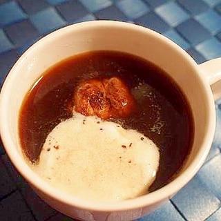 チョコチップアイスで♪ 爽やか珈琲 おまけクッキー