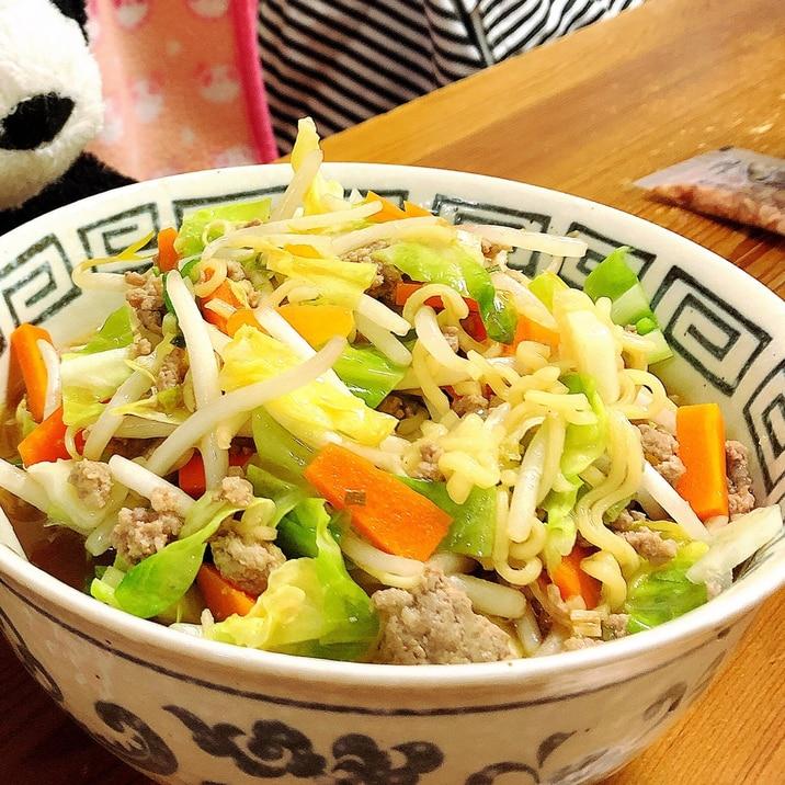野菜たっぷり★☆サッポロ一番みそラーメン☆★