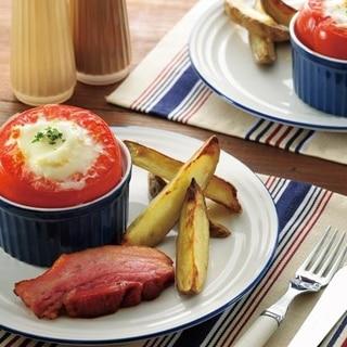 焼トマトとローストポテト