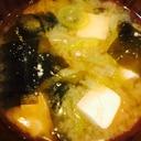 豆腐とネギのお味噌汁*