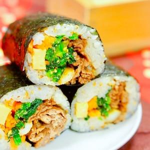 <おかんの味>韓国風♪恵方巻キンパ