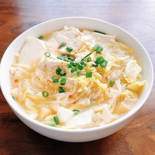 《ダイエットランチ》坦々風春雨スープ