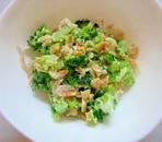 ブロッコリー&干しエビ&ピーナッツのマヨ塩麹和え