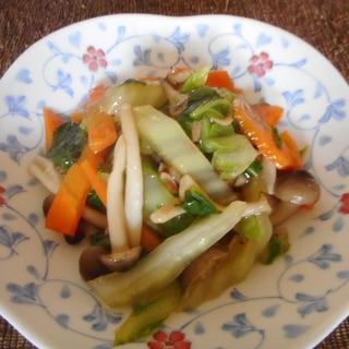 白菜、ニンジン、しめじのとろみ炒め