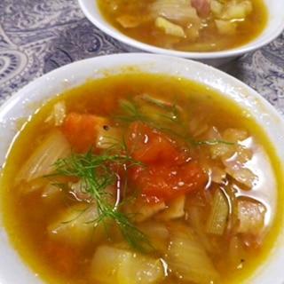 ベーコンフェンネルスープ