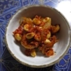 五目豆が嫌いな旦那さんに★大豆水煮のトマト煮こみ★