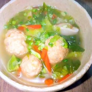 キャベツとつくね☆中華スープ