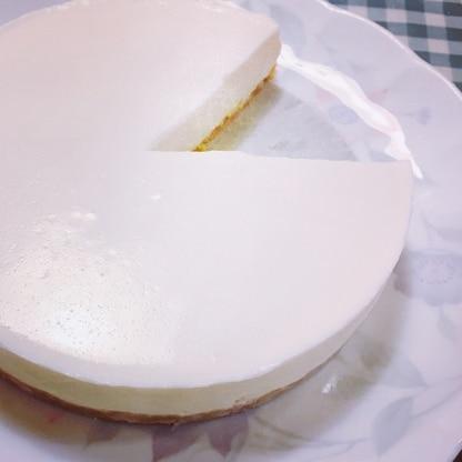 初めてチーズケーキを作りました!美味しいと家族に喜んでもらえました!