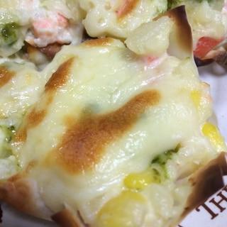 餃子の皮カップのポテトチーズ焼き(o^^o)