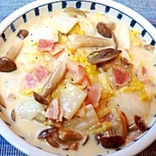 簡単!ポカポカ♪白菜とベーコンのミルク煮