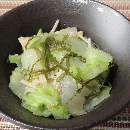 白菜とえのきの刻み昆布和え