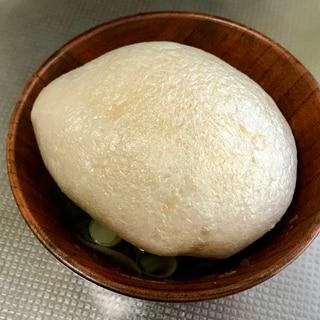 小松菜とたま麩のお吸い物