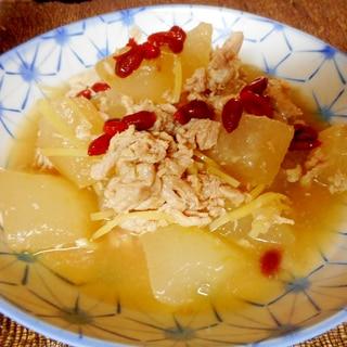豚コマと冬瓜の炒め煮