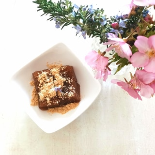 ルイボスティーとサイリウムハスクで簡単わらび餅