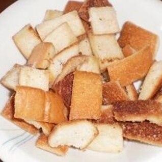 パンの耳でバター炒め