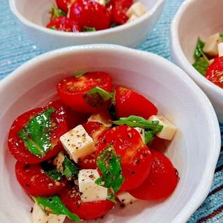 夏の副菜☆トマバジチーズ
