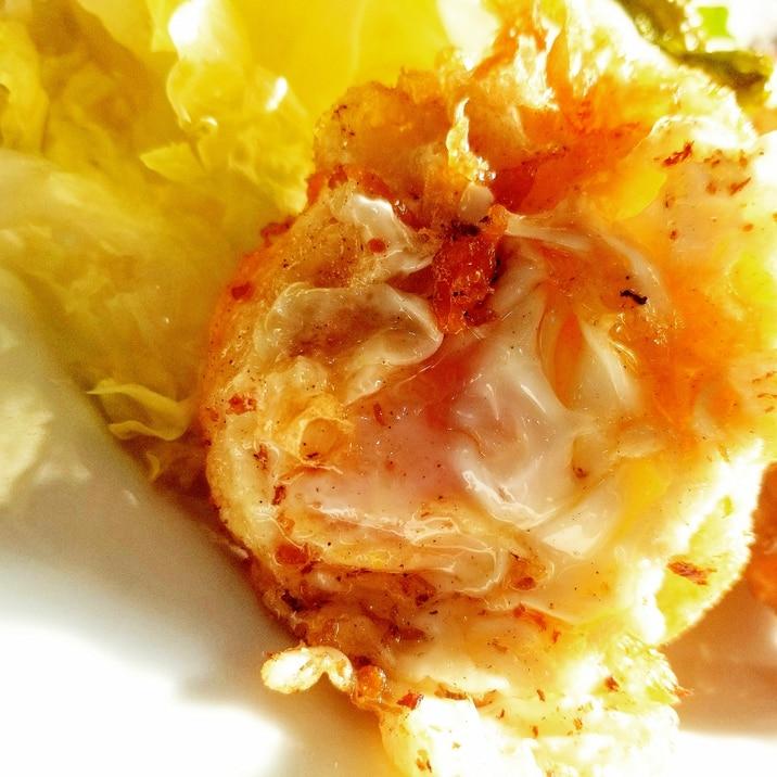 ウフフリ(落とし揚げ卵)