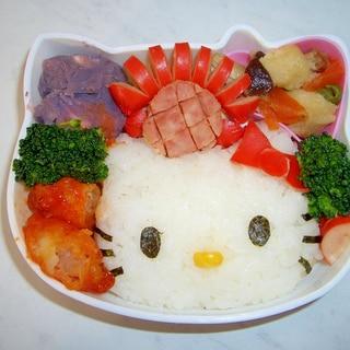 キティちゃん弁当!簡単キャラ弁