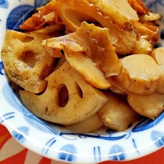 レンコンと菊芋の酢きんぴら