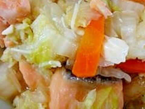 鮭と豆腐のうま煮