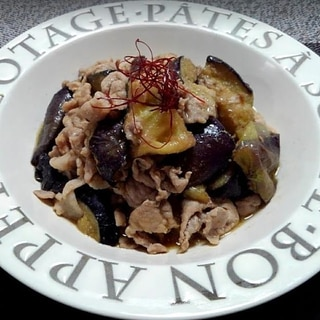 とり野菜みその豚こま切れとトロトロ茄子炒めもの