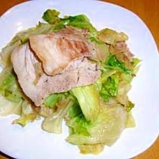 豚肉とレタスの塩炒め