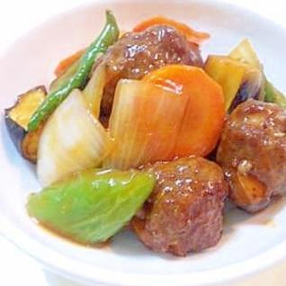 酢豚をアレンジ!肉団子の甘酢あんかけ!野菜たっぷり