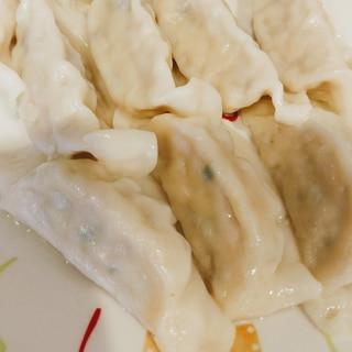 冷凍餃子で♡もちもち水餃子♪