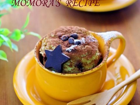 レンジで2分HMで簡単チョコバナナマグカップケーキ