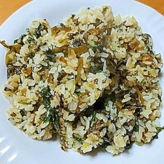 シソと辛子高菜チャーハン