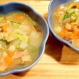 野菜たっぷり♪野菜を食べる洋風味噌汁(ミソスープ)