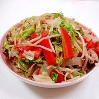 豚シャブ肉の野菜炒め