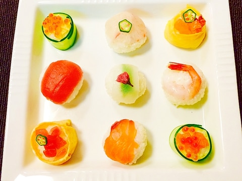 かわいく花畑手まり寿司