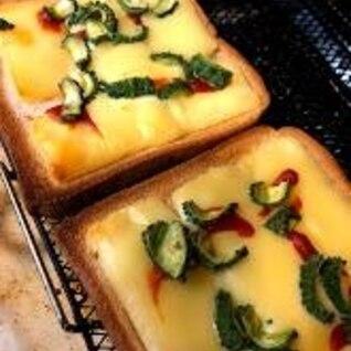 ローソンのブラン食パンで糖質オフのピザトースト