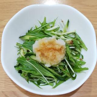 水菜ときゅうりのおろしポン酢サラダ