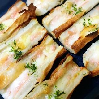 お弁当に!たらこマヨがおいしい☆ちくわチーズ焼き