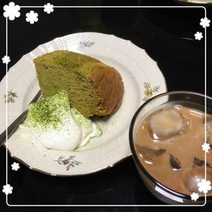 ☆抹茶のシフォンケーキ☆