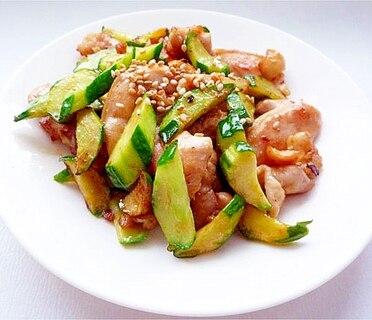 鶏肉ときゅうり炒め