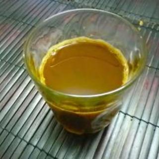 卵黄を入れて飲むコーヒー カフェウフ