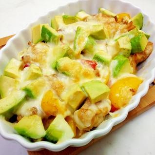 カレー風味♪アボカドチキンソテーのチーズ焼き