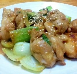 鶏肉とチンゲン菜のごまみそ焼き