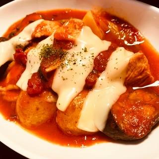 アスパラと鶏胸肉の簡単トマト煮込み☆