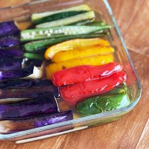 夏野菜の白だし煮浸し