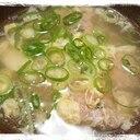 余った餃子のタネで肉団子スープ
