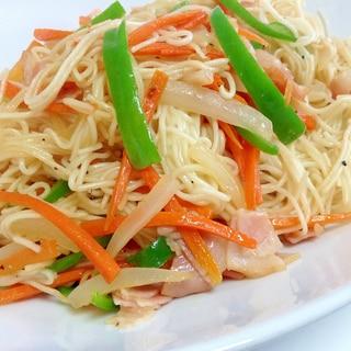 お昼ごはんに♡お野菜たっぷりソーミンチャンプルー♡