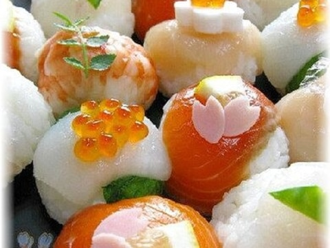 コロンと可愛い~♪おもてなしのてまり寿司☆
