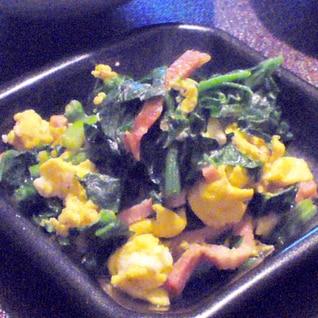 甘くて美味しい★ちぢみほうれん草の優しい卵炒め