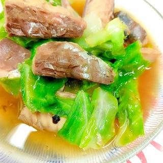 簡単!(^^)サバ缶と春キャベツのめんつゆ煮♪