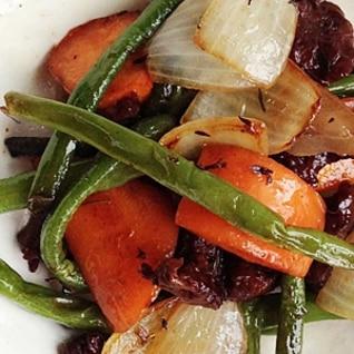 セイタンと有機野菜のグリル焼き