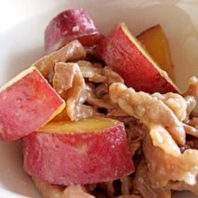さつまいもと豚肉の味噌炒め